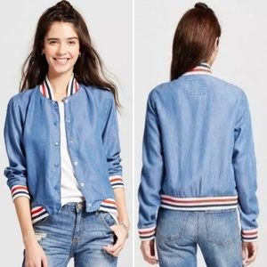 Massimo Retro Bomber Varsity Jacket Sz Large